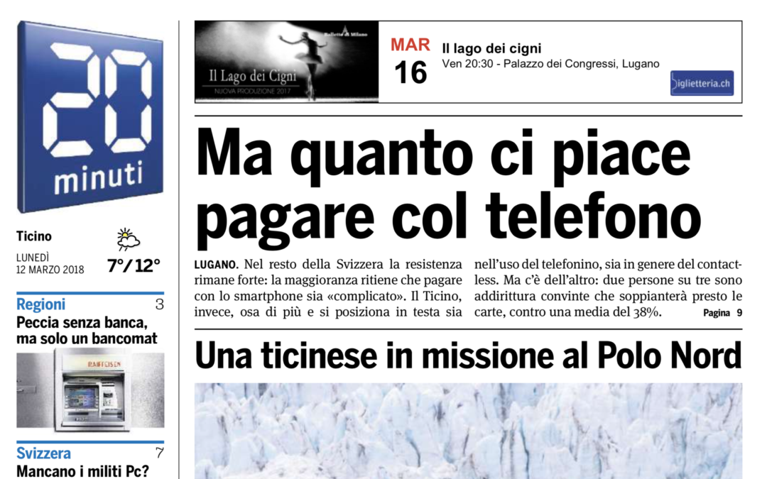 """20 Minuti: """"Una ticinese in missione al Polo Nord"""""""