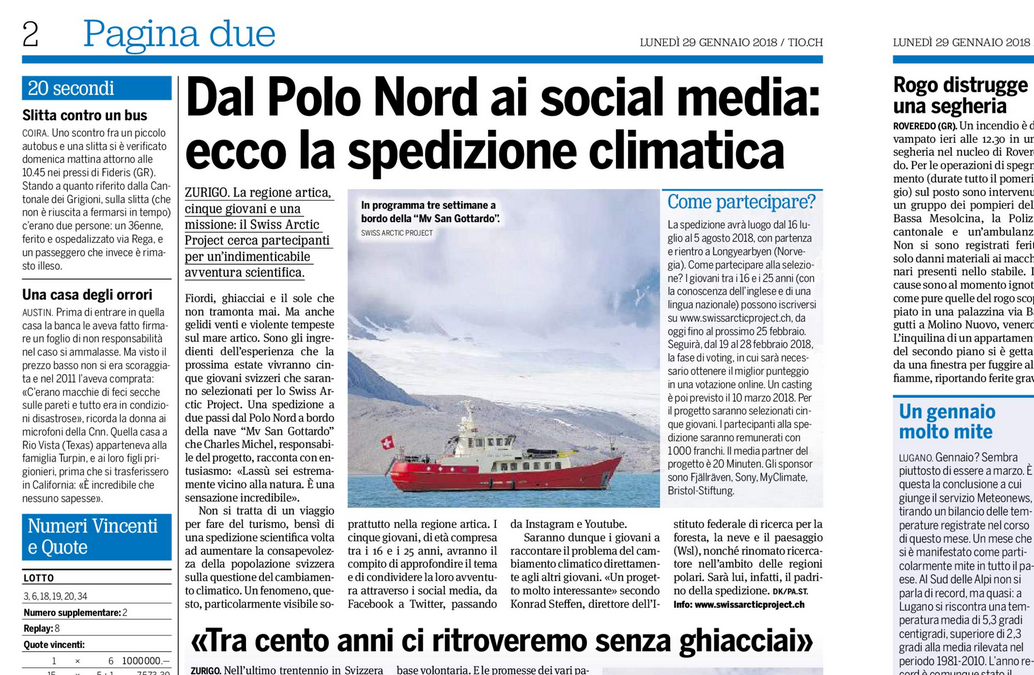 """20 Minuti: """"Dal Polo Nord ai social media: ecco la spedizione climatica"""""""