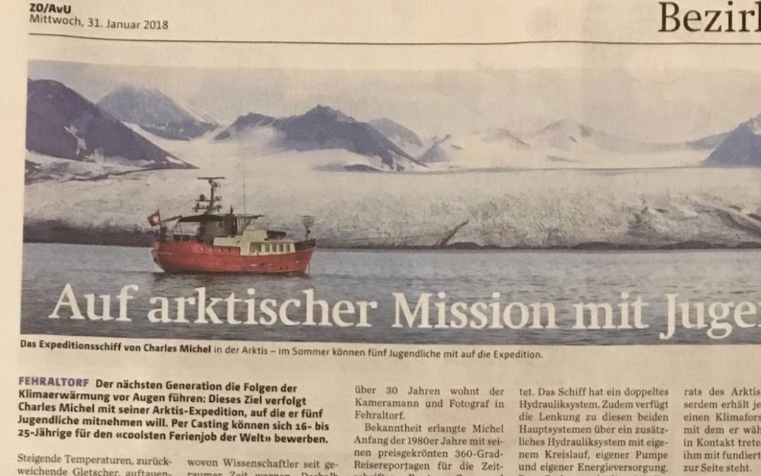 """Zürcher Oberländer: """"Auf arktischer Mission mit Jugendlichen"""""""