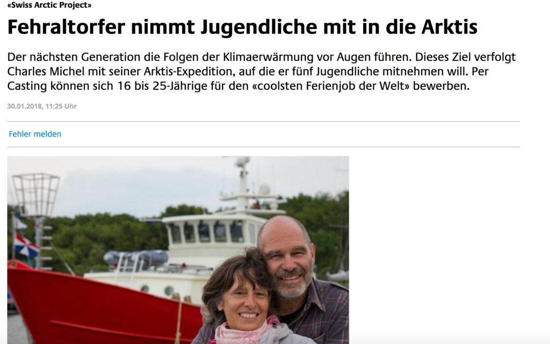 """züriost: """"Fehraltorfer nimmt fünf Jugendliche in die Arktis"""""""