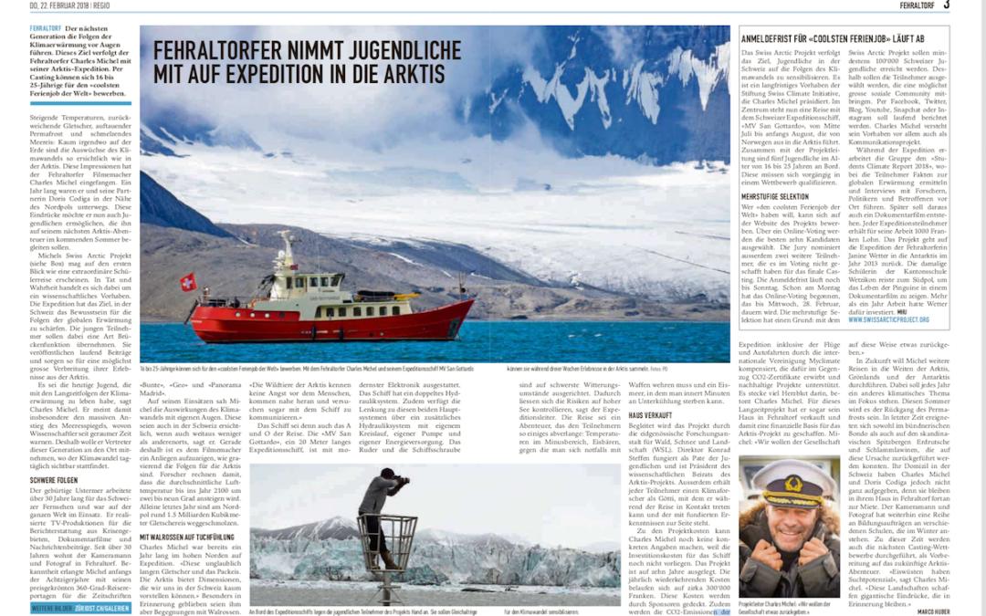 """Regio: """"Fehraltorfer nimmt Jugendliche mit auf Expedition in die Arktis"""""""