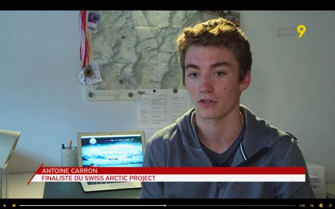 """Canal 9: """"Candidat au Swiss Arctic Project, le jeune Valaisan Antoine Carron rêve de partir dans le Grand Nord"""""""