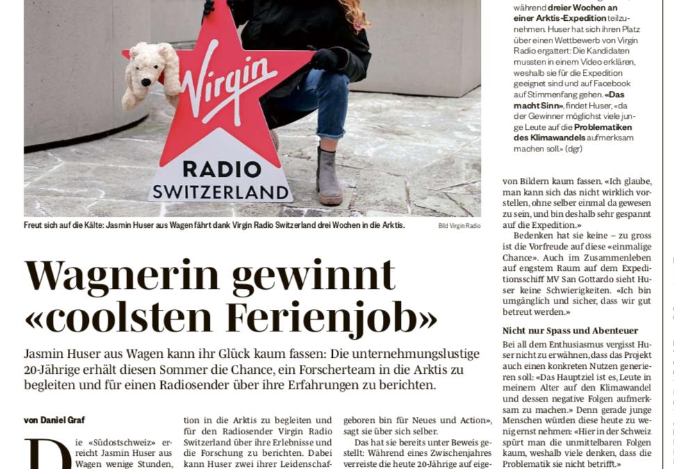"""Südostschweiz: Wagnerin gewinnt """"coolsten Ferienjob"""""""