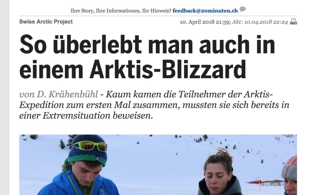"""20 Minuten: """"So überlebt man auch in einem Arktis-Blizzard"""""""