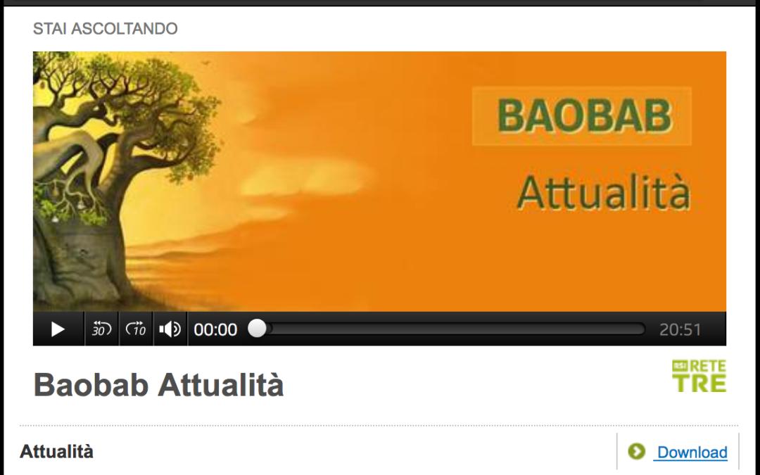 """RETE TRE: """"BAOBAB – Attualità"""""""