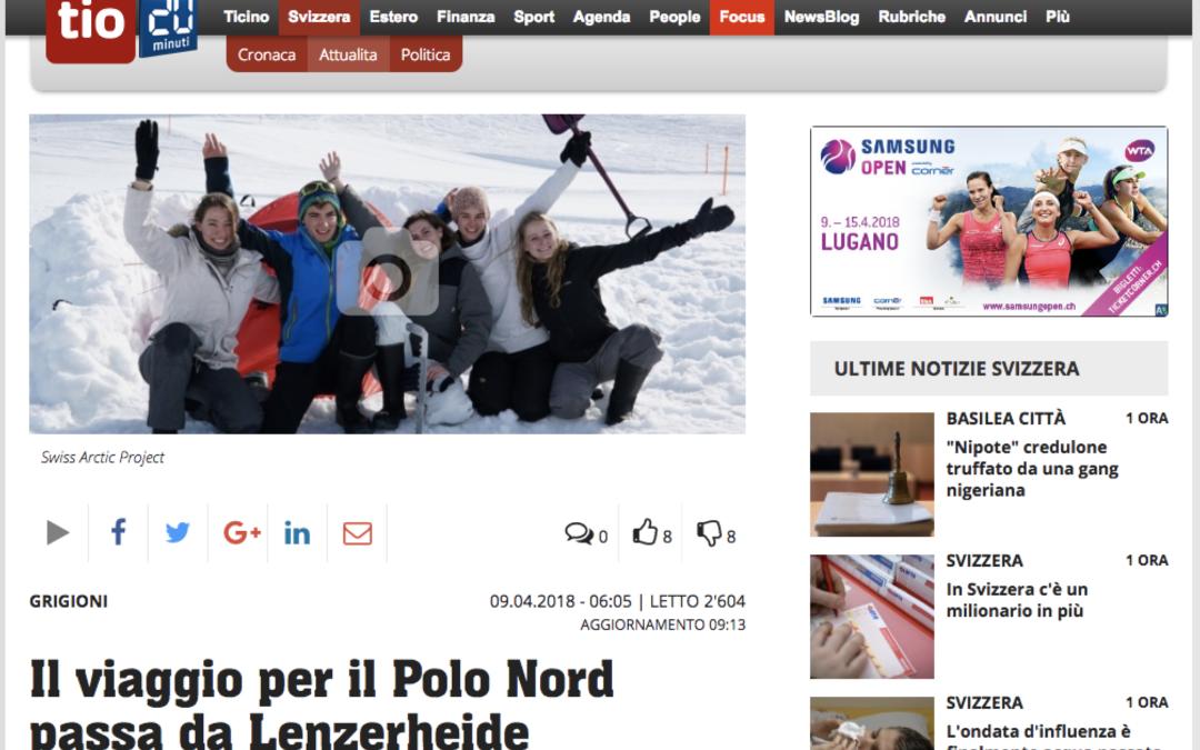 """20 minuti: """"Il viaggio per il Polo Nord passa da Lenzerheide"""""""