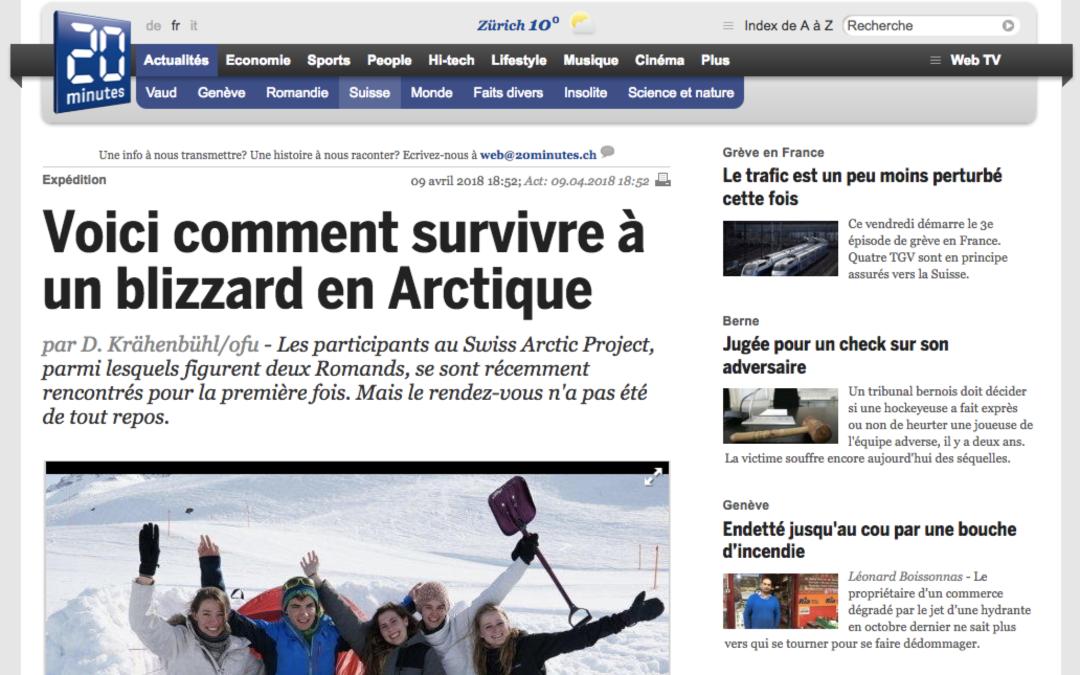 """20 minutes: """"Voici comment survivre à un blizzard en Arctique"""""""