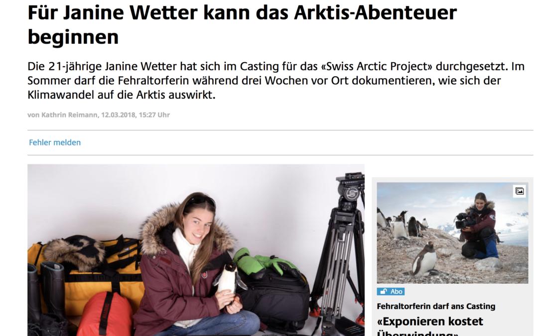 """Zürcher Oberländer: """"Für Janine Wetter kann das Arktis-Abenteuer beginnen"""""""