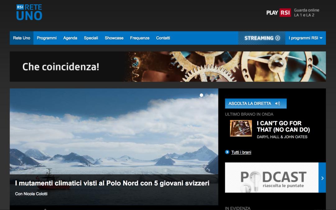 """RETE UNO, Millevoci: """"I mutamenti climatici visiti al Polo Nord con 5 giovani svizzeri"""""""