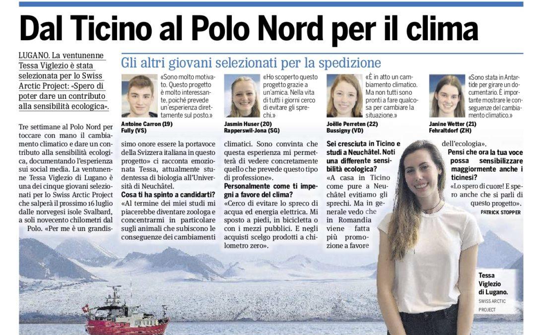 """20 minuti: """"Dal Ticino al polo Nord per il clima"""""""