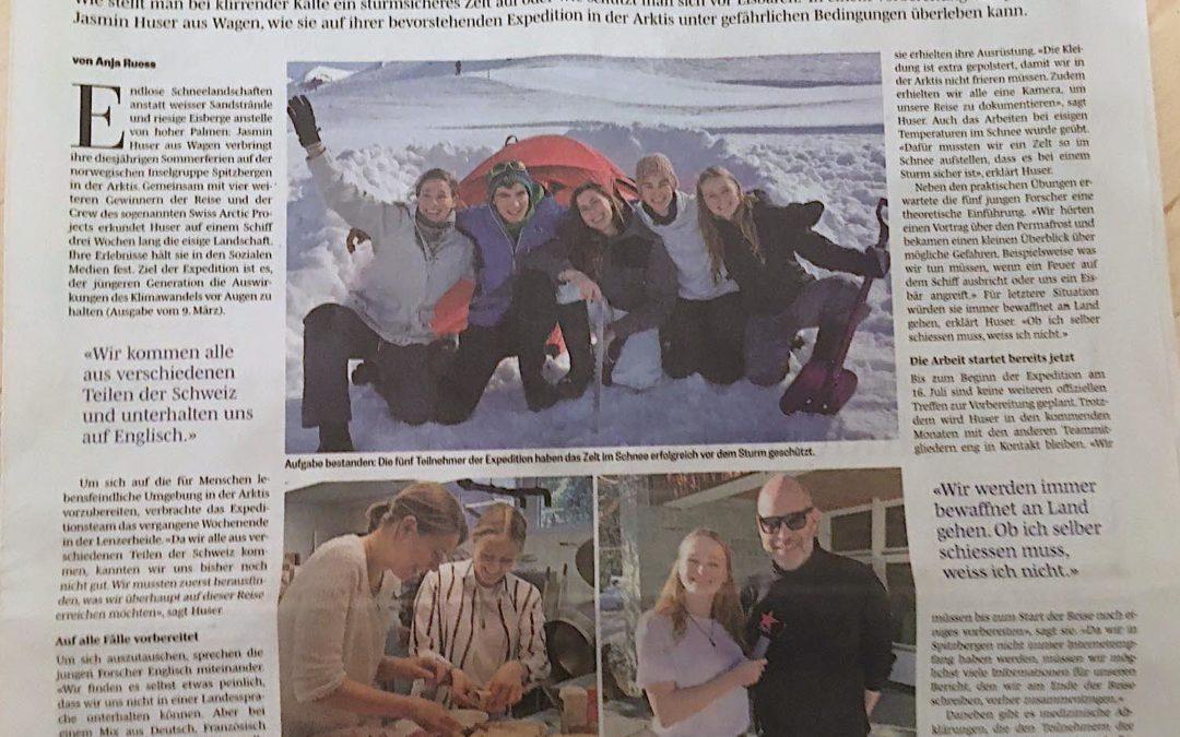 Südostschweiz: Wagnerin übt für Notfall im ewigen Eis