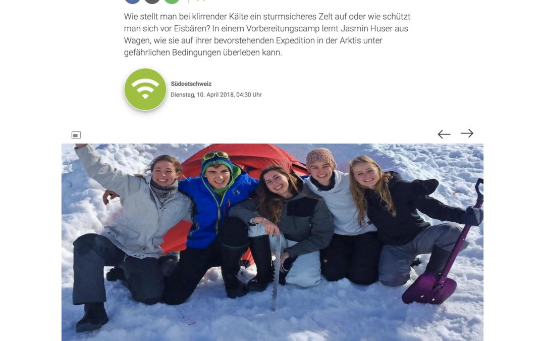 """Südostschweiz: """"Wagnerin übt für den Notfall im ewigen Eis"""""""