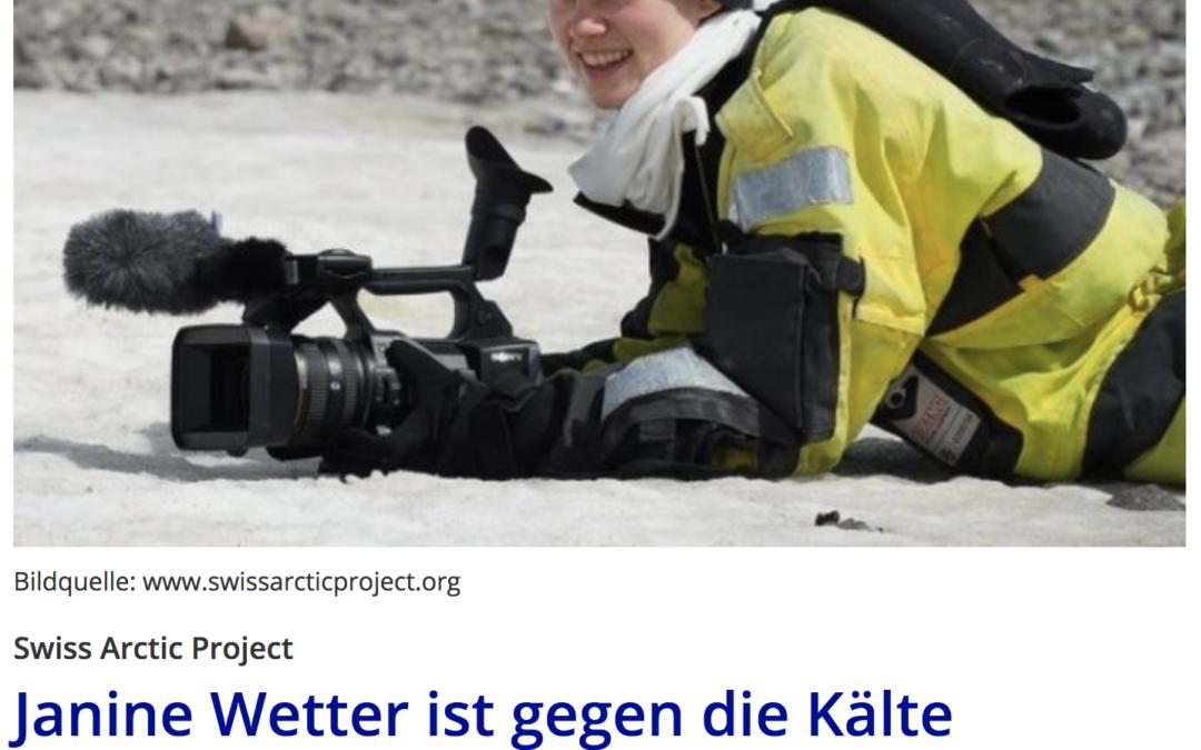"""Radio Zürisee: """"Janine Wetter ist gegen die Kälte gewappnet"""""""