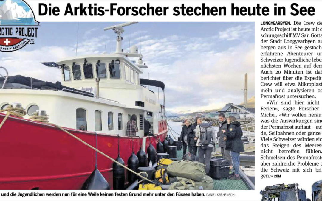 """20 Minuten: """"Die Arktis-Forscher stechen heute in See"""""""
