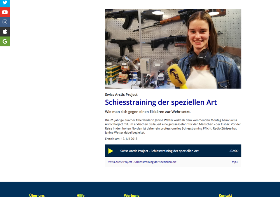 """Radio Zürisee: """"Schiesstraining der speziellen Art"""""""