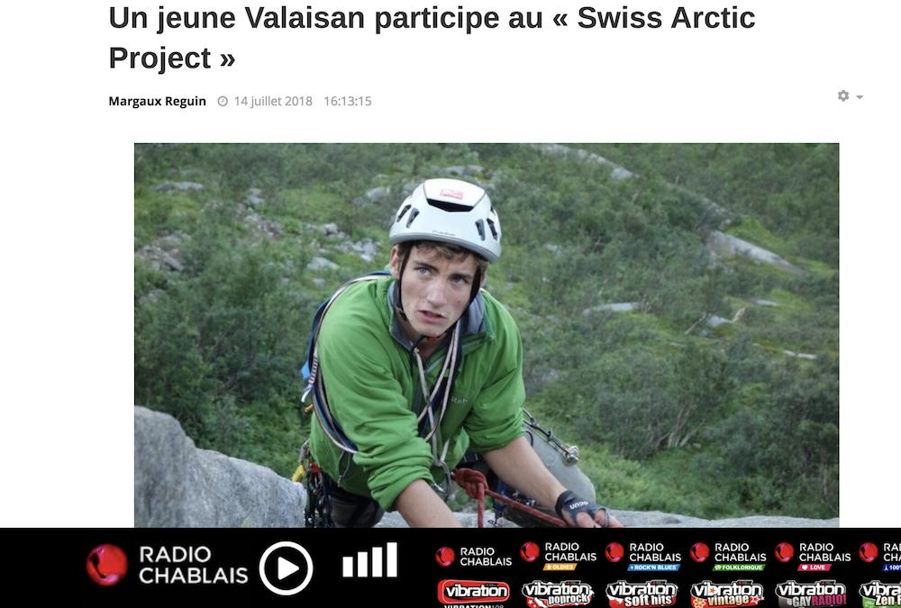 """RADIO CHABLAIS: """"Un jeune Valaisan participe au « Swiss Arctic Project »"""""""