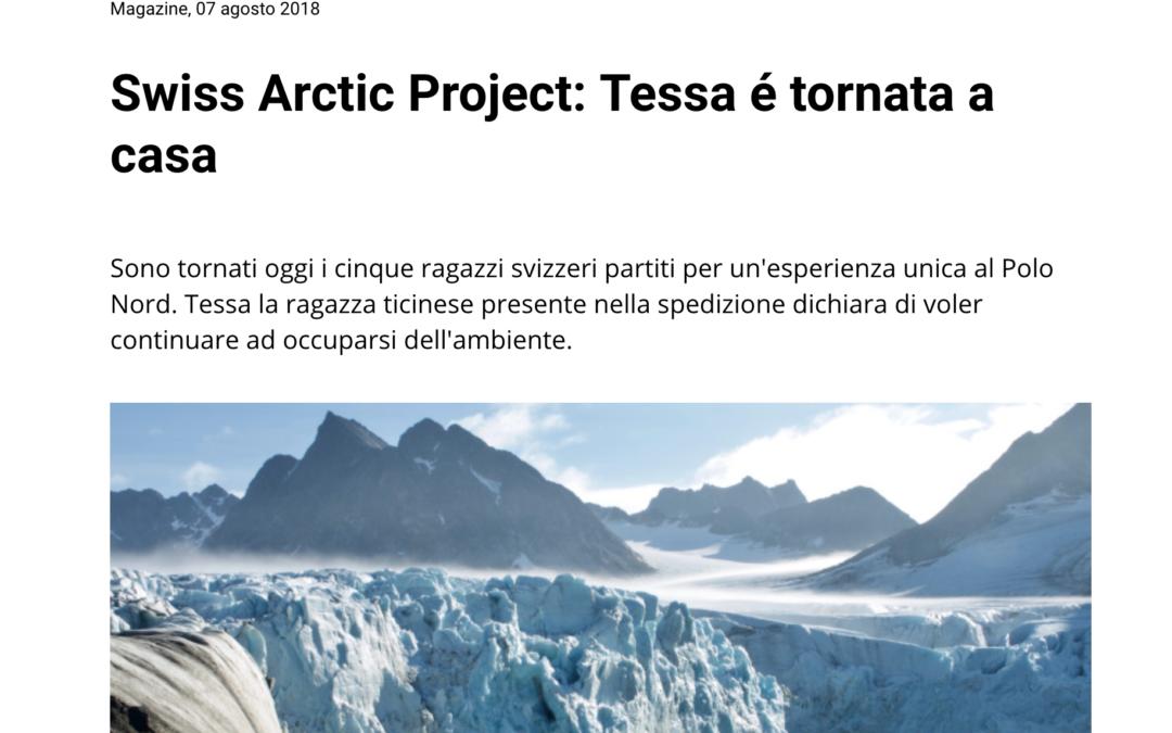 "Mattinonline: ""Swiss Arctic Project: Tessa é tornata a casa"""