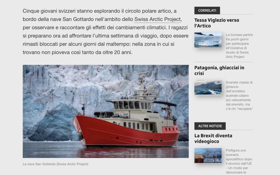 """RSI News: """"Giovani svizzeri nell'Artico"""""""