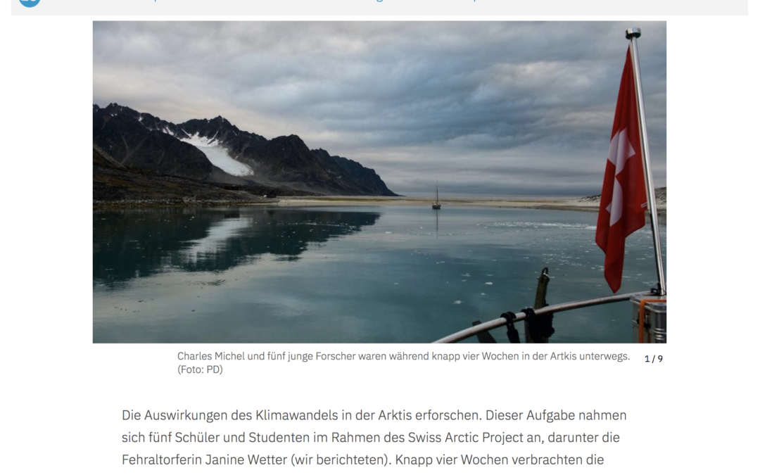 """Züriost: """"Das Swiss Arctic Project war ein Erfolg"""""""