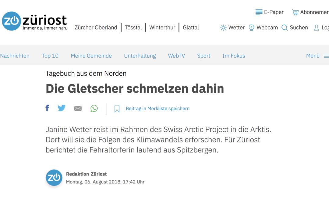 """züriost: """"Die Gletscher schmelzen dahin"""""""