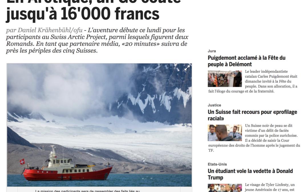 20 minutes: En Arctique, un Go coûte jusqu'à 16'000 francs