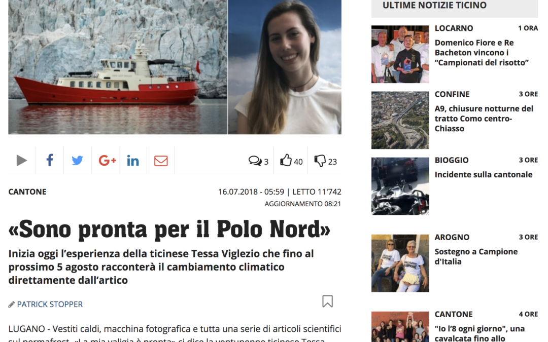20 minuti: «Sono pronta per il Polo Nord»