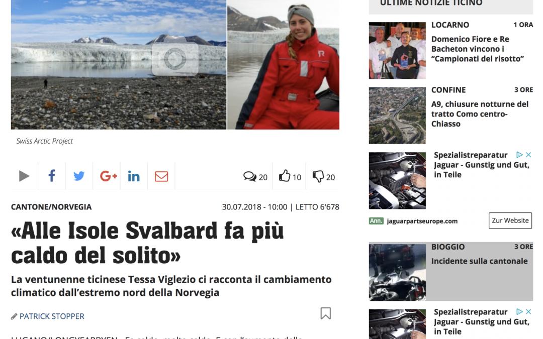 20 minuti: «Alle Isole Svalbard fa più caldo del solito»