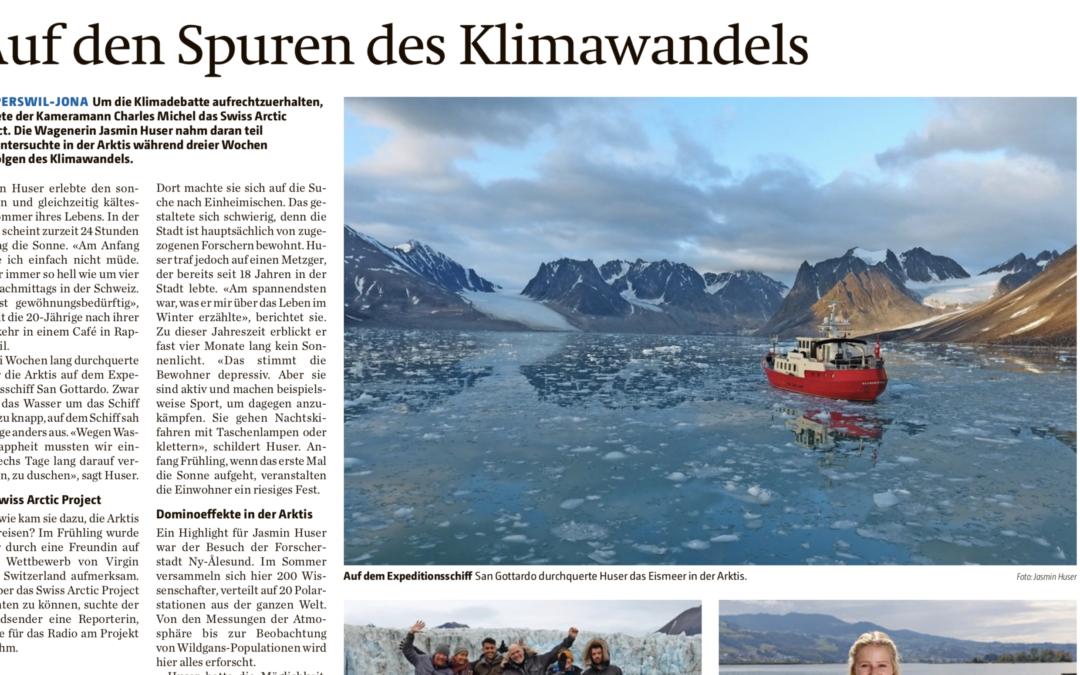"""Zürichsee Zeitung: """"Auf den Spuren des Klimawandels"""""""
