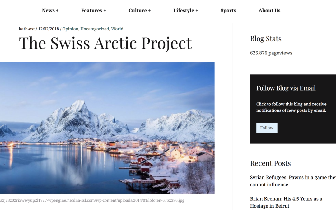 """THE UPDATE: """"The Swiss Arctic Project"""""""