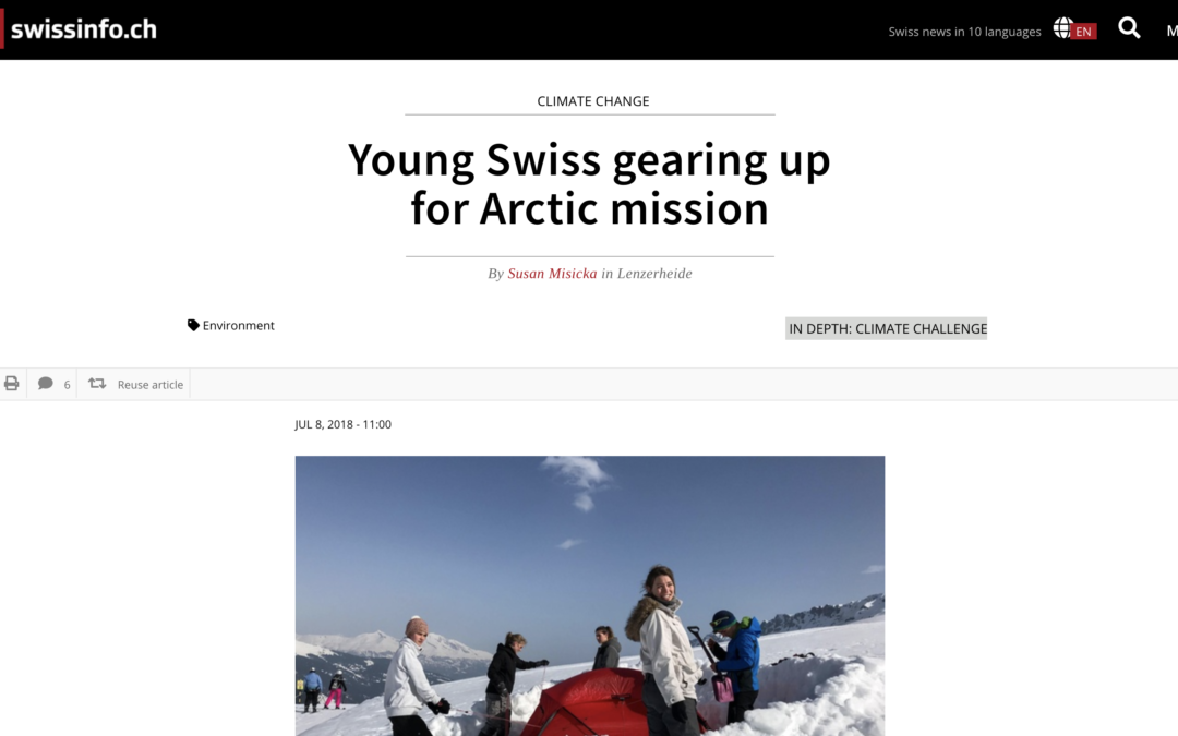 "swissinfo.ch: ""Young Swiss gearing up for Arctic mission"""
