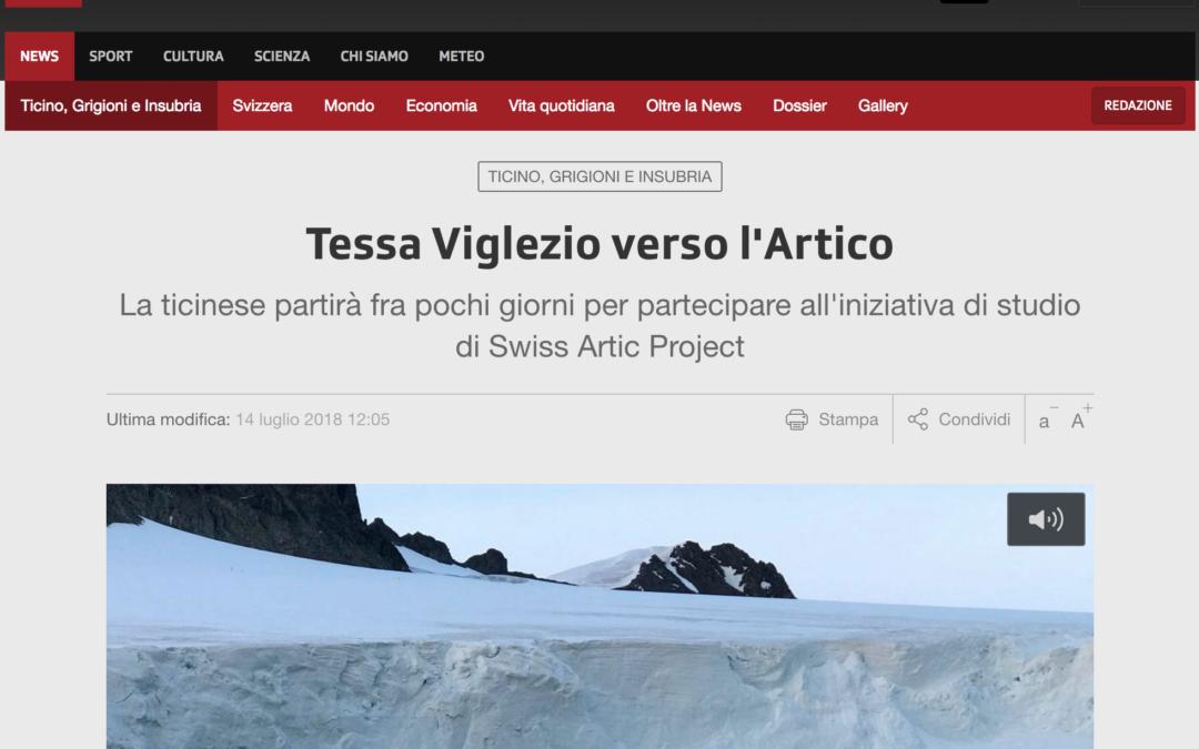 """RSI NEWS: """"Tessa Viglezio verso l'Artico"""""""