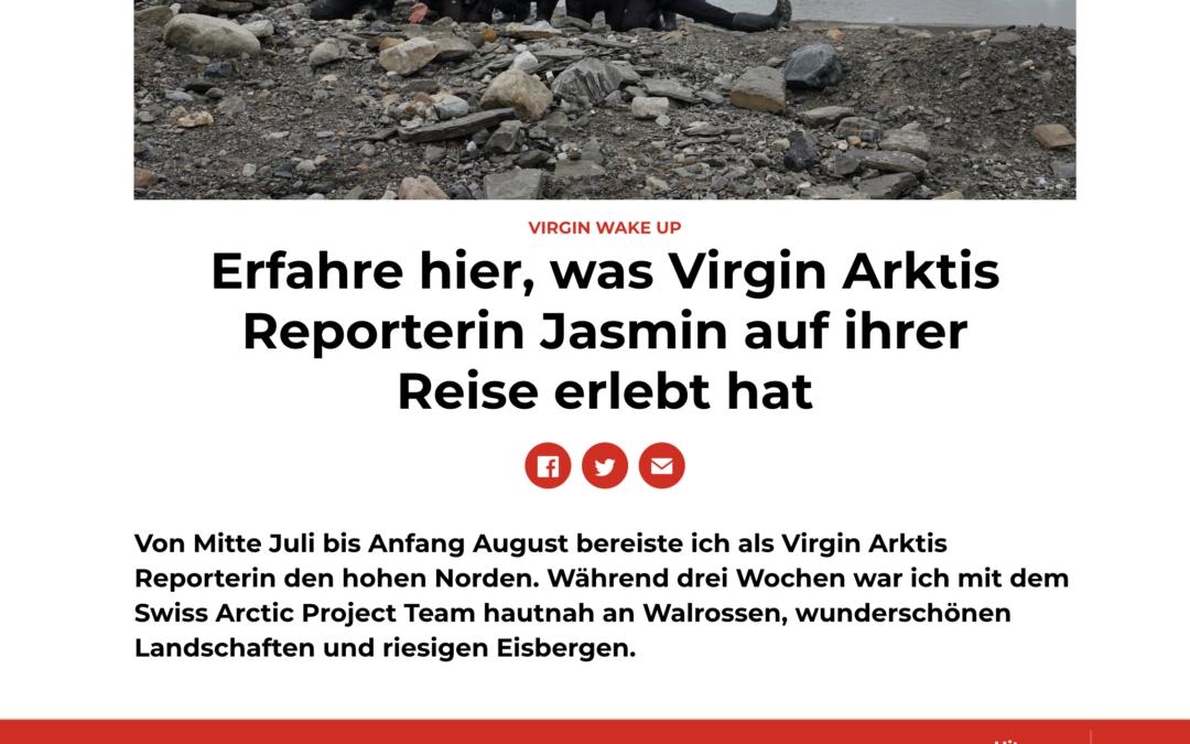 """Virgin Radio: """"Erfahre hier, was Virgin Arktis Reporterin Jasmin auf ihrer Reise erlebt hat"""""""