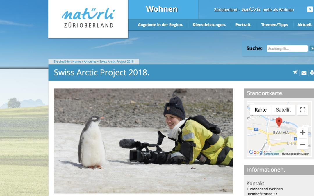 "Natürli Zürioberland: ""Swiss Arctic Project 2018"""