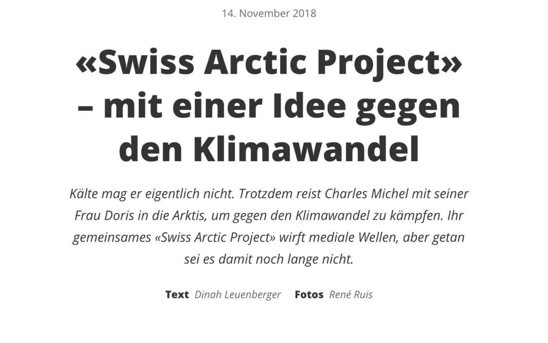 Migros Magazin: «Swiss Arctic Project» – mit einer Idee gegen den Klimawandel